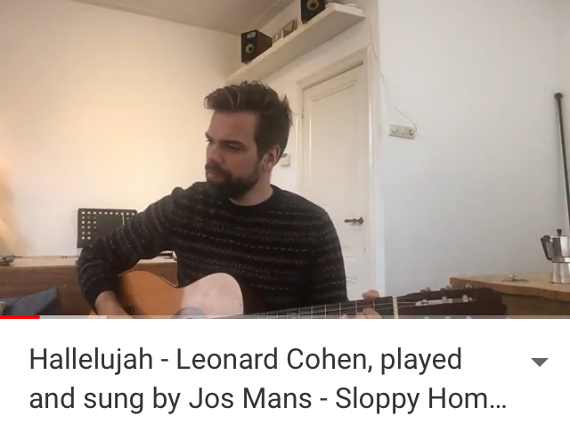 Jos Mans Sloppy Home Recordings 3 Hallelujah Leonard Cohen
